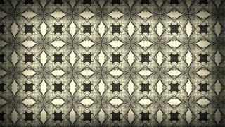 Dark Brown Seamless Floral Vintage Pattern Background Image