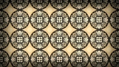 Dark Brown Vintage Decorative Floral Seamless Pattern Background Image