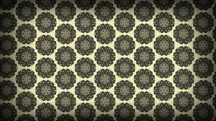 Dark Brown Vintage Floral Seamless Pattern Background Graphic