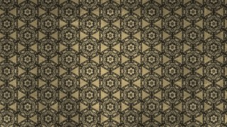 Dark Brown Vintage Decorative Floral Ornament Background Pattern Design Template