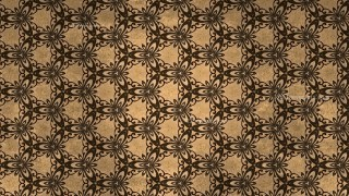 Dark Brown Vintage Floral Ornament Background Pattern Template