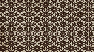 Dark Brown Vintage Decorative Floral Ornament Wallpaper Pattern Image