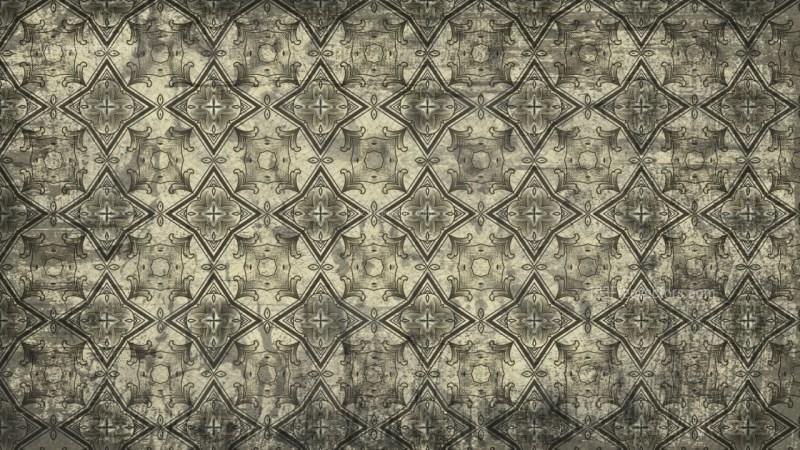 Dark Color Vintage Decorative Ornament Wallpaper Pattern