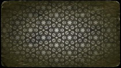 Dark Color Vintage Ornamental Pattern Wallpaper