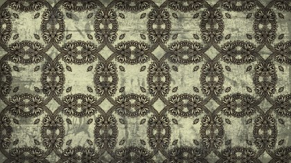 Dark Color Vintage Seamless Floral Background Pattern