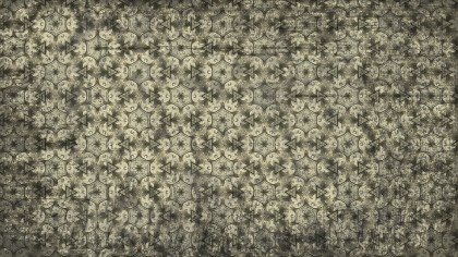 Dark Color Vintage Flower Wallpaper Pattern