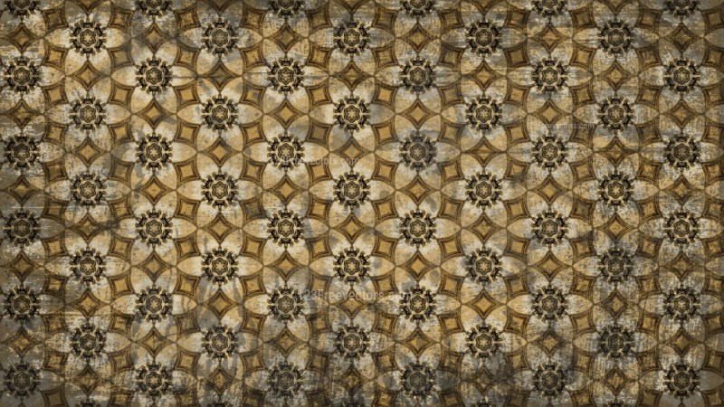 Dark Color Vintage Floral Wallpaper Background