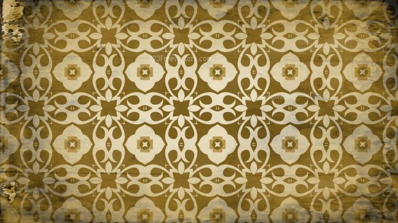 Vintage Decorative Floral Ornament Pattern Wallpaper Template