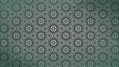 Dark Green Vintage Ornamental Seamless Pattern Background Design