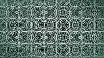 Dark Green Vintage Decorative Floral Seamless Pattern Wallpaper Design