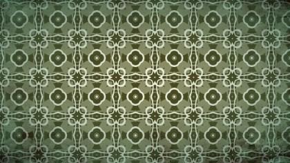 Dark Green Vintage Floral Seamless Pattern Wallpaper Design Template