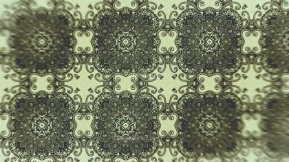 Dark Green Vintage Seamless Ornamental Pattern Wallpaper