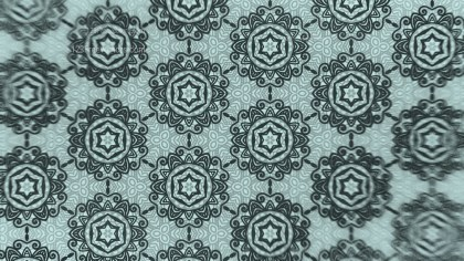 Dark Green Vintage Ornament Wallpaper Pattern Design