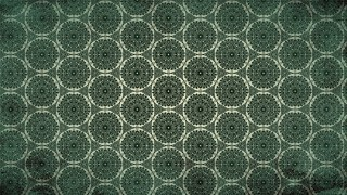 Dark Green Ornamental Vintage Background Pattern