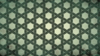 Dark Green Seamless Floral Vintage Pattern Background Image