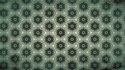 Dark Green Vintage Seamless Wallpaper Background