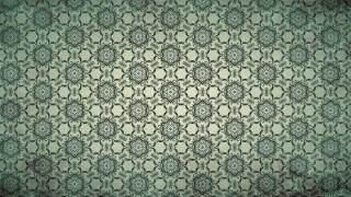 Dark Green Vintage Ornamental Pattern Background
