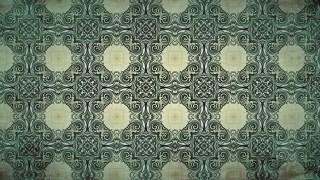 Dark Green Vintage Seamless Ornamental Pattern Background