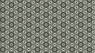 Dark Green Vintage Flower Background Pattern