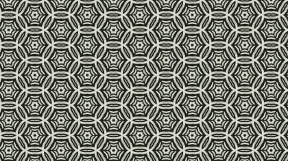 Dark Green Vintage Decorative Floral Pattern Wallpaper