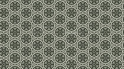Dark Green Vintage Decorative Floral Seamless Pattern Wallpaper Design