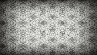 Dark Grey Floral Seamless Pattern Wallpaper Template