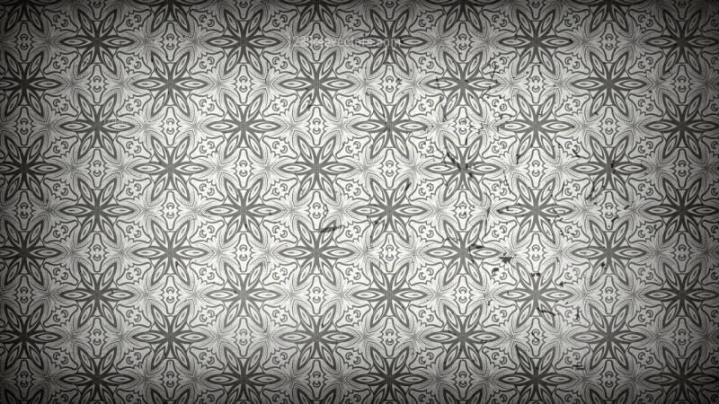 Dark Grey Floral Seamless Pattern Wallpaper Template