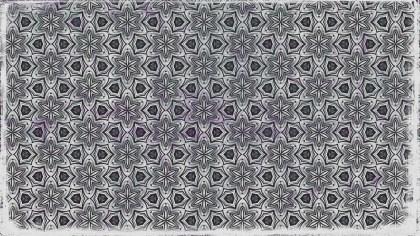 Dark Grey Floral Ornament Wallpaper Pattern Design