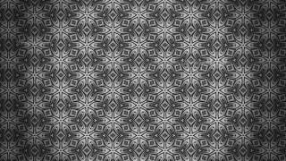 Dark Gray Decorative Floral Seamless Pattern Background Template