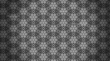 Dark Gray Decorative Floral Seamless Pattern Background Template