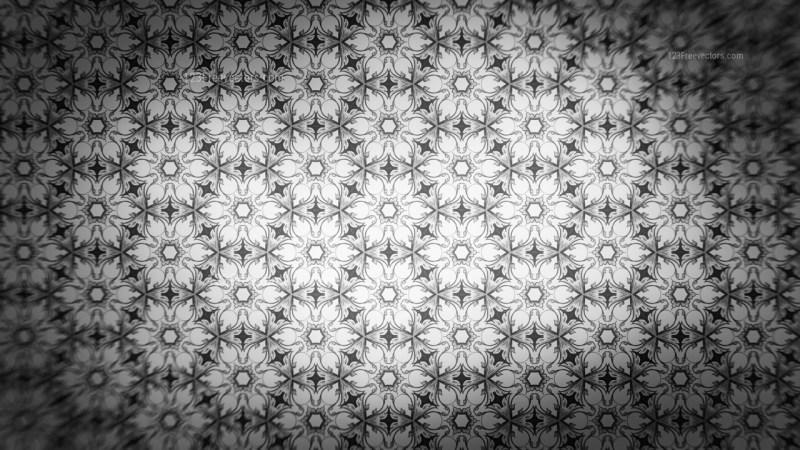 Dark Grey Ornamental Pattern Background