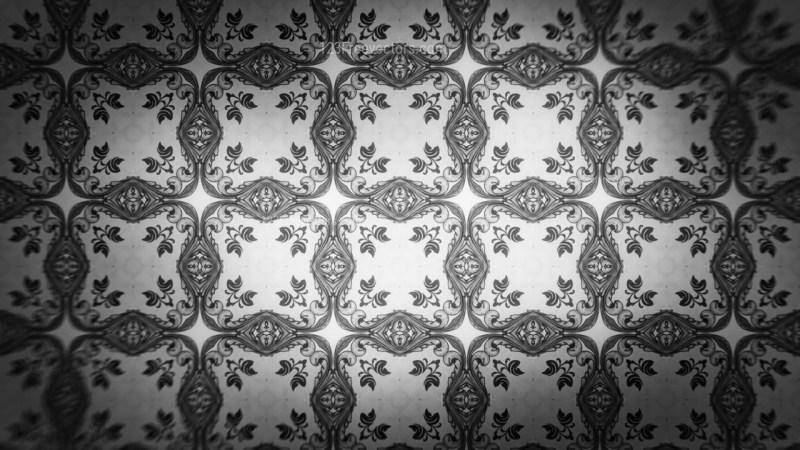 Dark Gray Decorative Floral Ornament Background Pattern Design Template