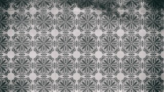 Dark Gray Vintage Decorative Ornament Wallpaper Pattern