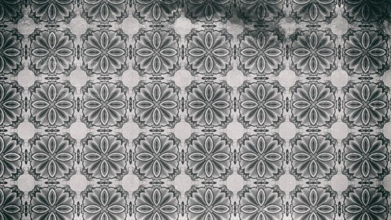 Dark Gray Vintage Decorative Ornament Wallpaper Pattern