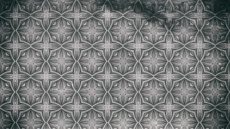 Dark Gray Ornamental Vintage Background Pattern