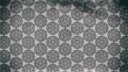 Dark Grey Seamless Floral Vintage Pattern Background Image