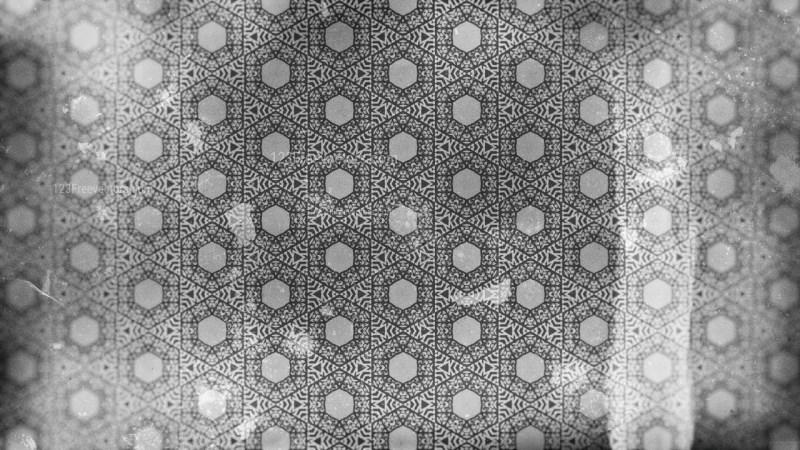 Dark Grey Vintage Floral Seamless Pattern Wallpaper Design Template