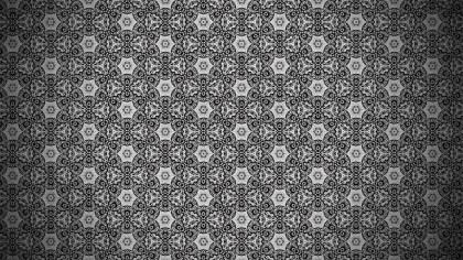 Dark Grey Vintage Decorative Floral Ornament Background Pattern Design Template