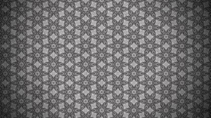 Dark Gray Vintage Decorative Ornament Background Pattern