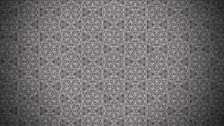 Dark Gray Vintage Decorative Floral Pattern Wallpaper