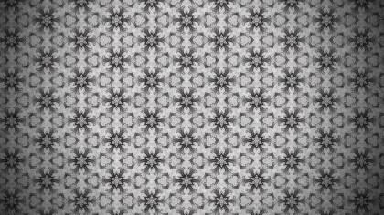 Dark Gray Vintage Seamless Floral Wallpaper Pattern