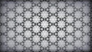 Dark Gray Vintage Decorative Floral Pattern Background