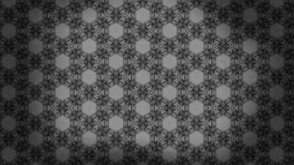 Dark Gray Vintage Seamless Floral Background Pattern
