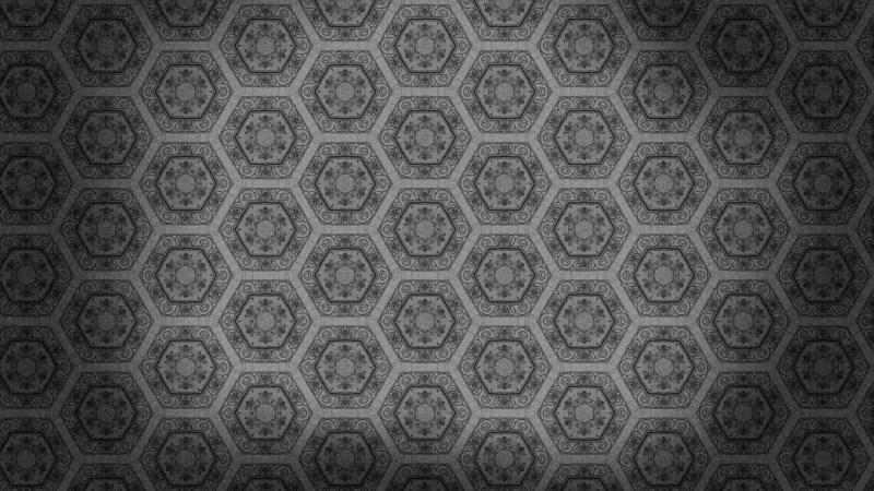 Dark Gray Vintage Decorative Floral Pattern Wallpaper