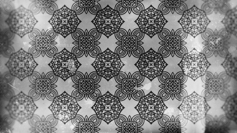 Dark Grey Vintage Ornamental Seamless Pattern Wallpaper Template