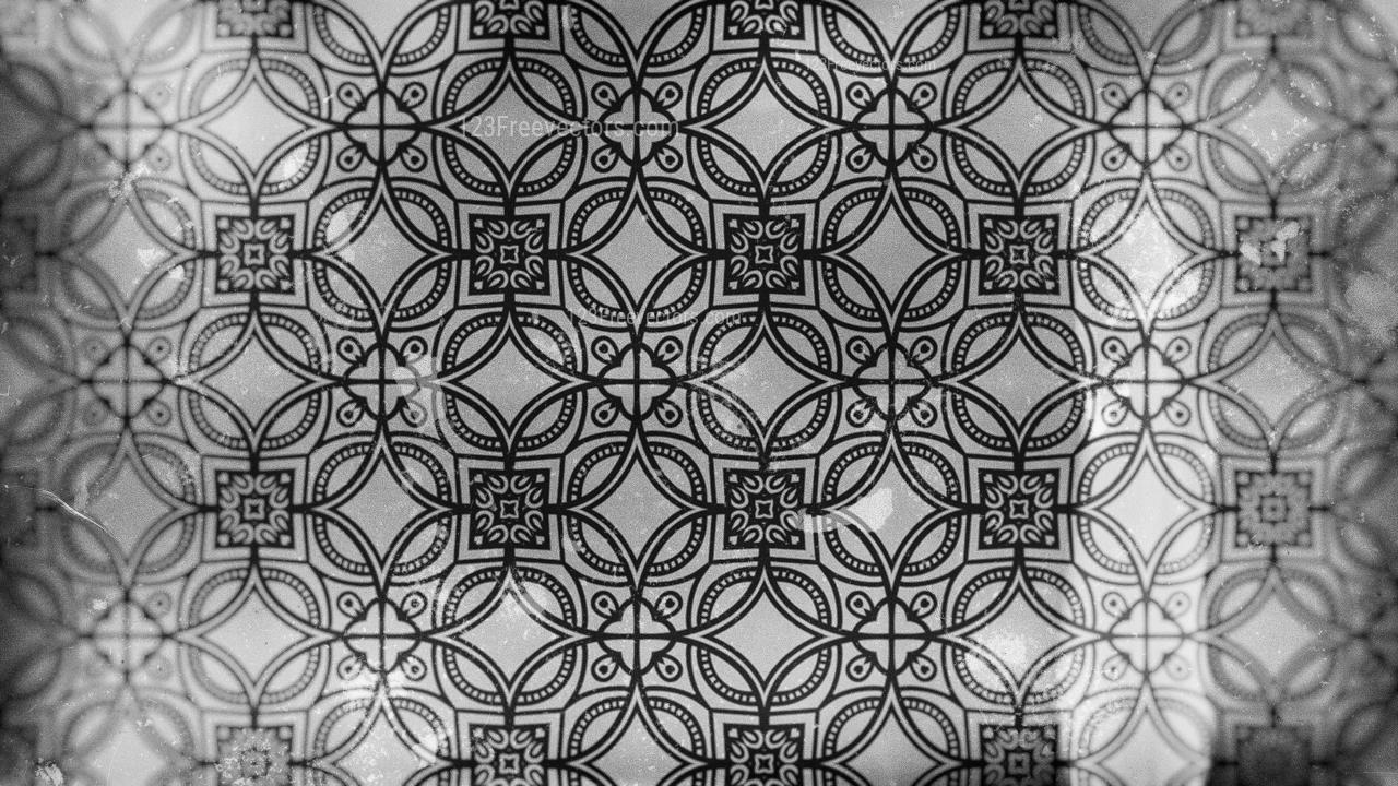 Dark Grey Vintage Decorative Floral Ornament Wallpaper Pattern Image