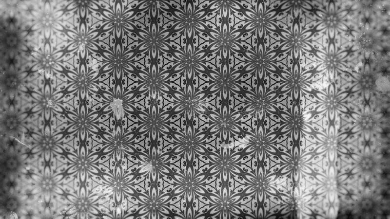 Dark Grey Vintage Ornament Wallpaper Pattern Design