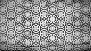 Dark Grey Seamless Floral Geometric Wallpaper Pattern