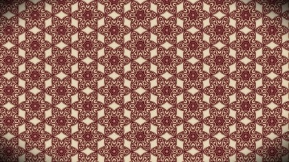 Dark Red Seamless Floral Vintage Pattern Background Image