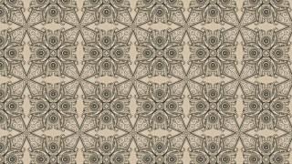 Desert Sand Color Vintage Seamless Ornamental Pattern Background